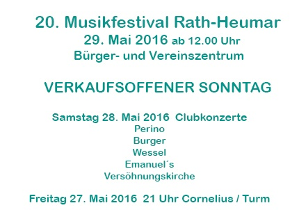 Musikfestival 2016 Text