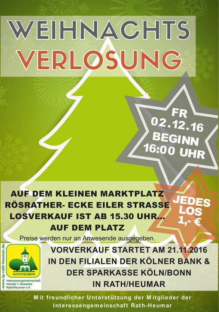Plakat Weihnachtsverlosung 2