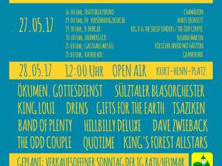 Programm des Musikfestivals Rath-Heumar 2017